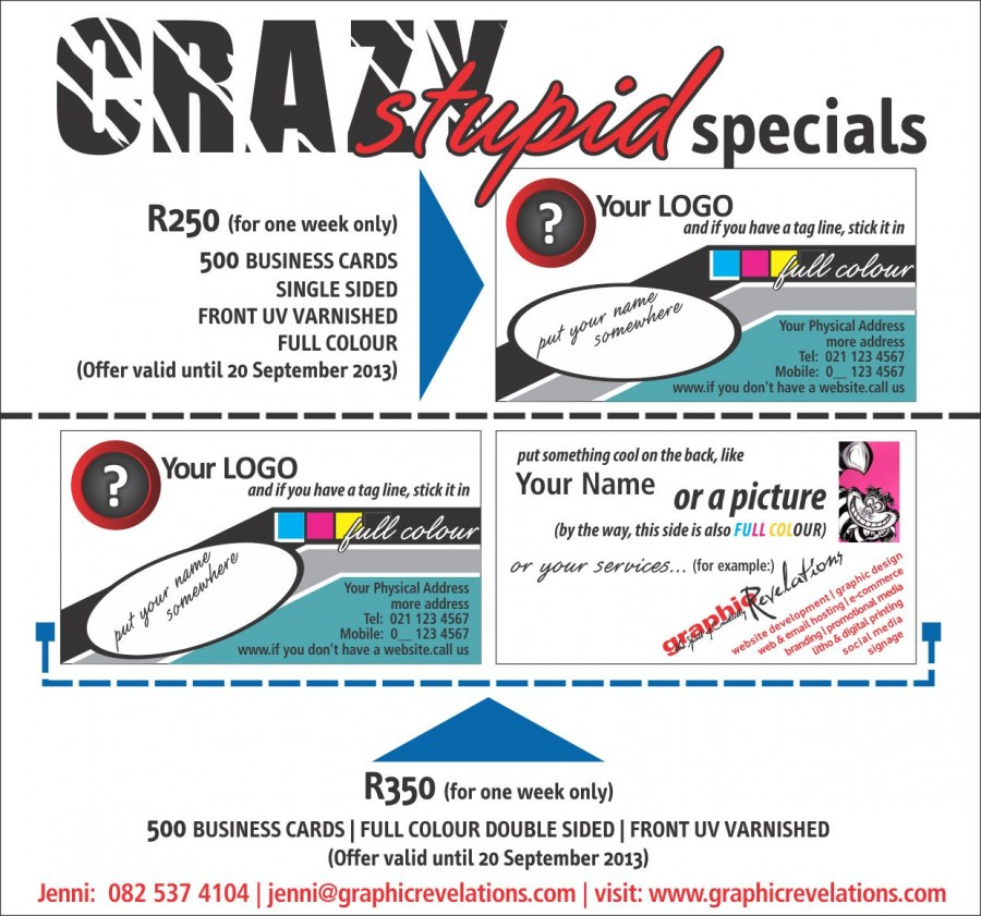 Crazy Stupid Business Card Special - Graphic Revelations
