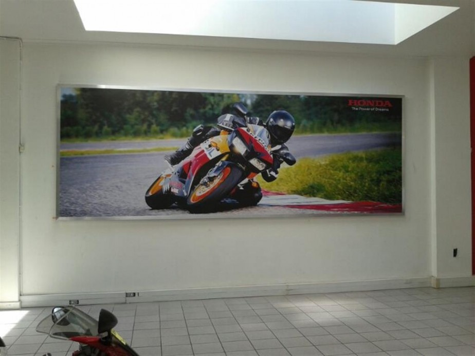 Honda CT wall banner