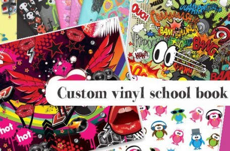 custom vinyl school book covers