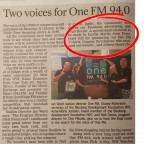ONE FM and Graphic Revelations