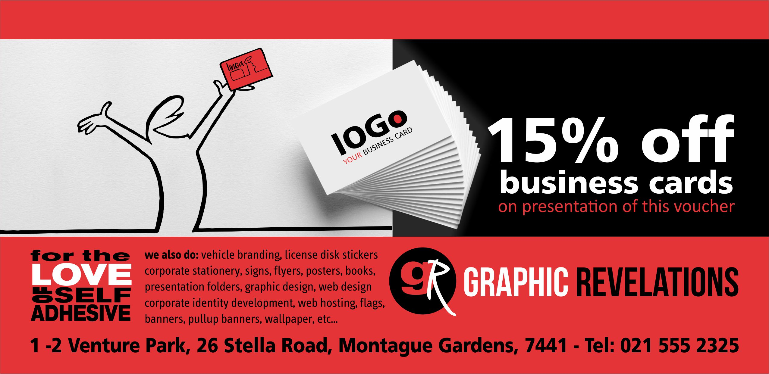 Business Cards Discount Voucher - Graphic Revelations