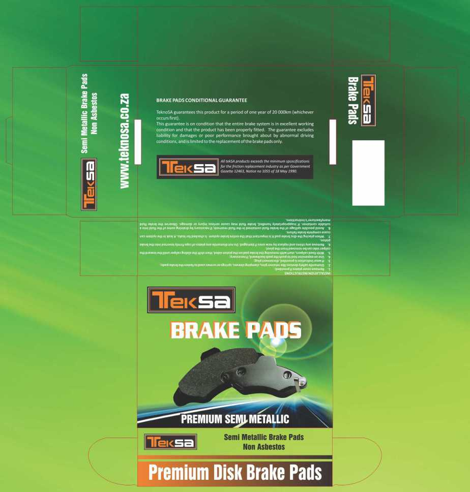 TekSA brake pads box design